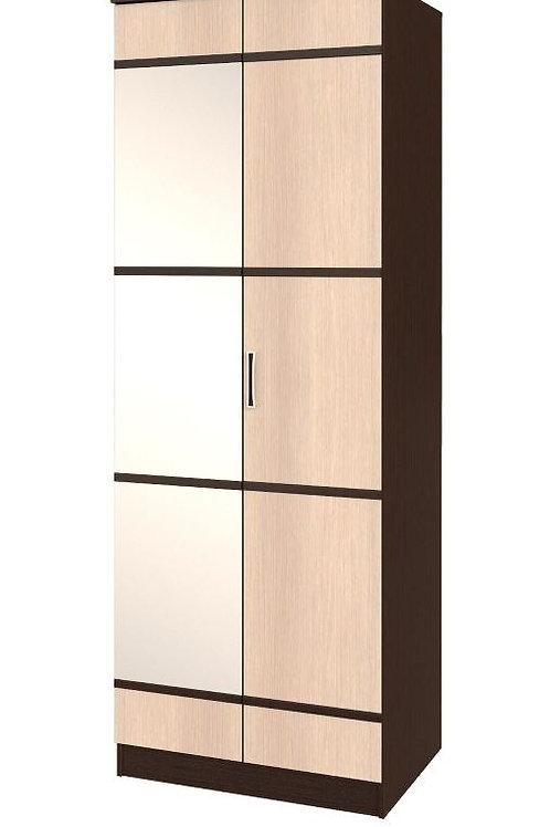 "Шкаф 2-х дверный ""Сакура"" с зеркалом 800 x 2216 x 610"