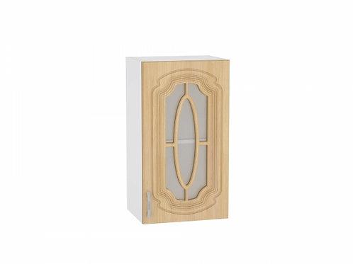 Шкаф верхний с 1-ой остекленной дверцей 400 Настя