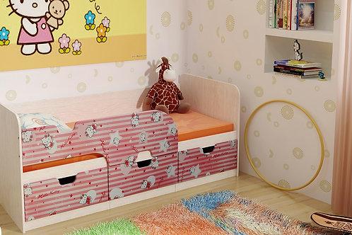 Детская кровать Минима 80х186 Хеллоу Китти