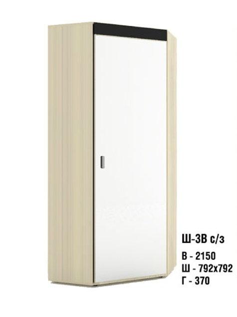 Шкаф угловой Ш-3В с зеркалом