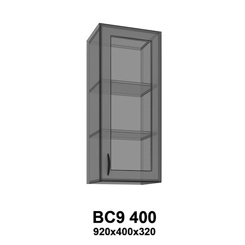 Модуль навесной со стеклом BС9 400