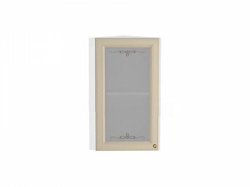 Шкаф верхний торцевой остекленный Версаль 224*308*716