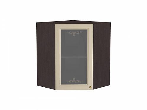 Шкаф верхний угловой остекленный Версаль 590*606*716