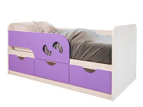 Детская кровать Минима Лего 80*160 Лиловый сад