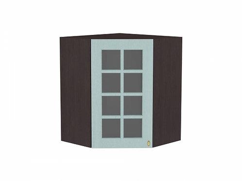 Шкаф верхний угловой остекленный Прованс