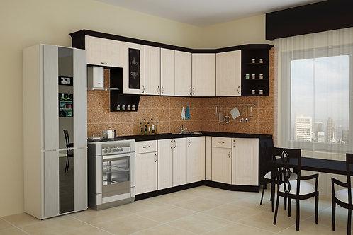 Угловая кухня Беларусь 1 верх: 2600*736*1465 низ: 2000*860*1465