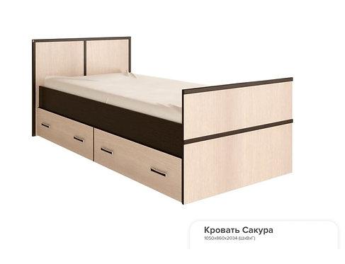 """Кровать 0,9 """"Сакура"""" 1050 x 860 x 2034"""