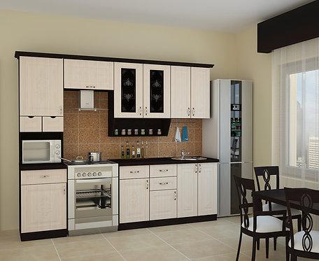 Кухня Беларусь 4 верх:2500x1340х330 низ:2500x860x600