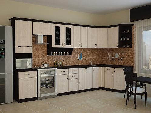 Угловая кухня Беларусь 4 верх: 3500*1340*1465 низ: 3500*860*1465