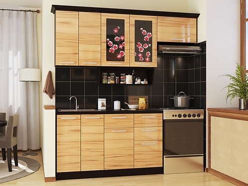 Кухня Сакура 3 верх:2200x986х330 низ:1600x860x600