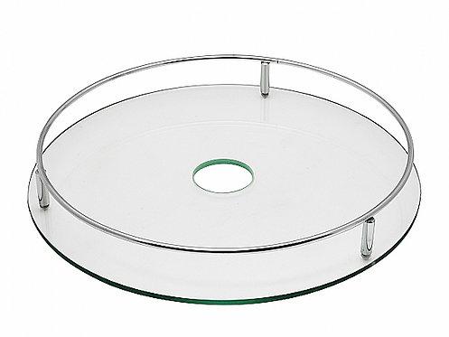 Полка круглая центральная стеклянная Тип-1 Хром