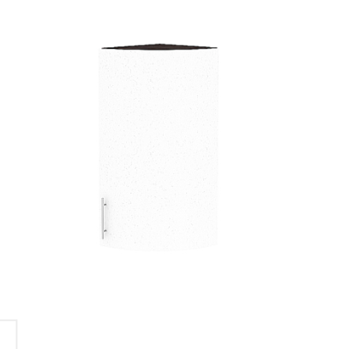 Шкаф верхний торцевой радиусный Валерия-М