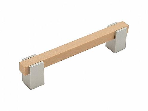 Ручка скоба мебельная С-21 Светлый венге (43)/Металлик 128