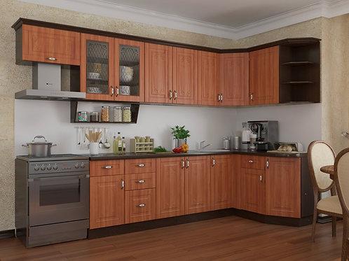 Угловая кухня Классика 3  верх: 3200*736*1465 низ: 2600*860*1465