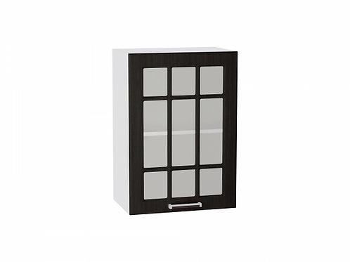 Шкаф верхний с 1-ой дверцей стекло 500 Прага