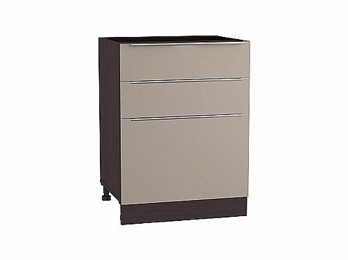 Шкаф нижний с 3-мя ящиками Фьюжн 600