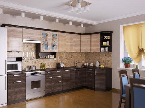 Угловая кухня Венеция 4 верх: 3500*1340*1465 низ: 3500*860*1465