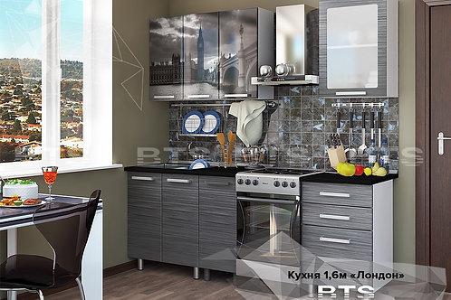 Кухня Лондон 1,6 черный мрамор