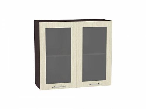 Шкаф верхний с 2-мя остекленными дверцами Валерия-М 800