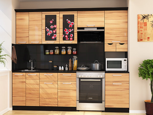 Кухня Сакура 4 верх:2500x1340х330 низ:2500x860x600