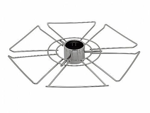 Полка для бокалов круглая центральная стальная Тип-1 Хром