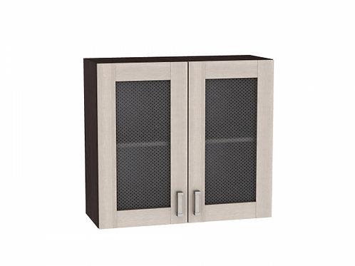 Шкаф верхний с 2-мя остекленными дверцами Лофт 800 (920)