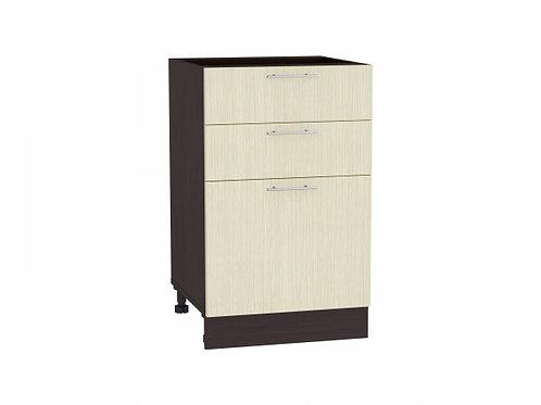 Шкаф нижний с 3-мя ящиками Валерия-М 500
