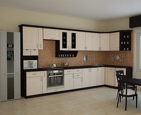Угловая кухня Беларусь 5 верх: 3950*1340*1465 низ: 3950*860*1465