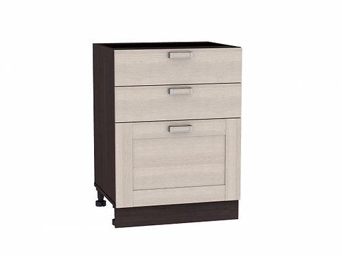 Шкаф нижний с 3-мя ящиками Лофт 600