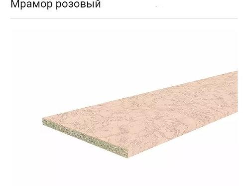 Столешница Hard-38U Прямая 3050*600 Мрамор розовый