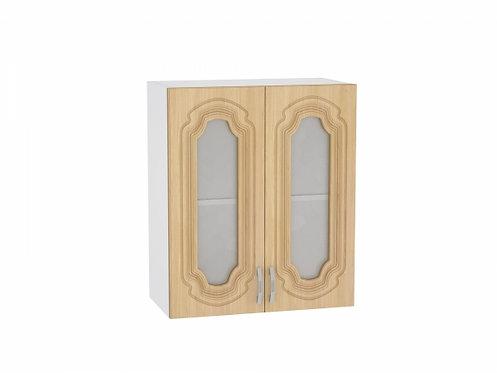 Шкаф верхний с 2-мя остекленными дверцами 600 Настя
