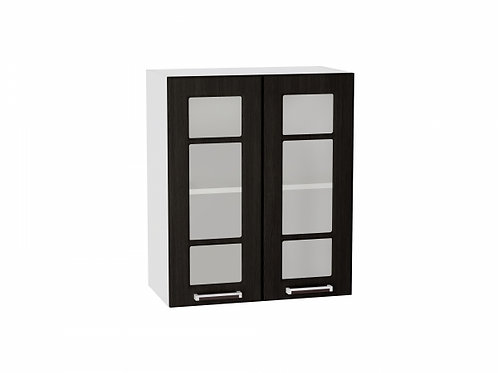 Шкаф верхний с 2-мя дверцами стекло 600 Прага