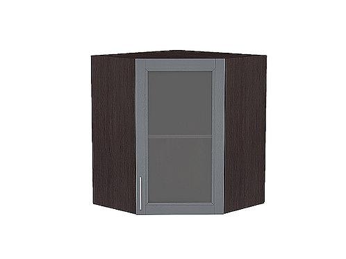 Шкаф верхний угловой остекленный Сканди 920