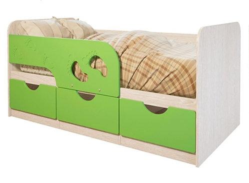 Детская кровать Минима Лего 80*160 Лайм глянец