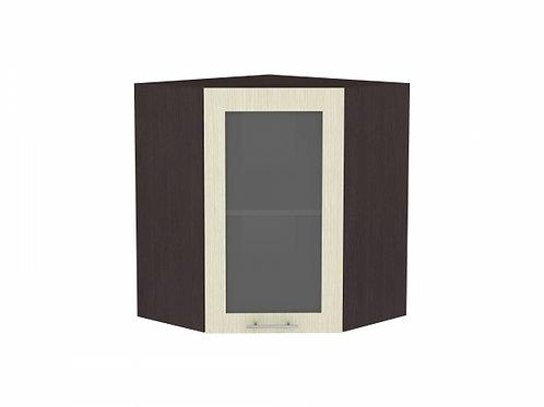 Шкаф верхний угловой остекленный Валерия-М (920)