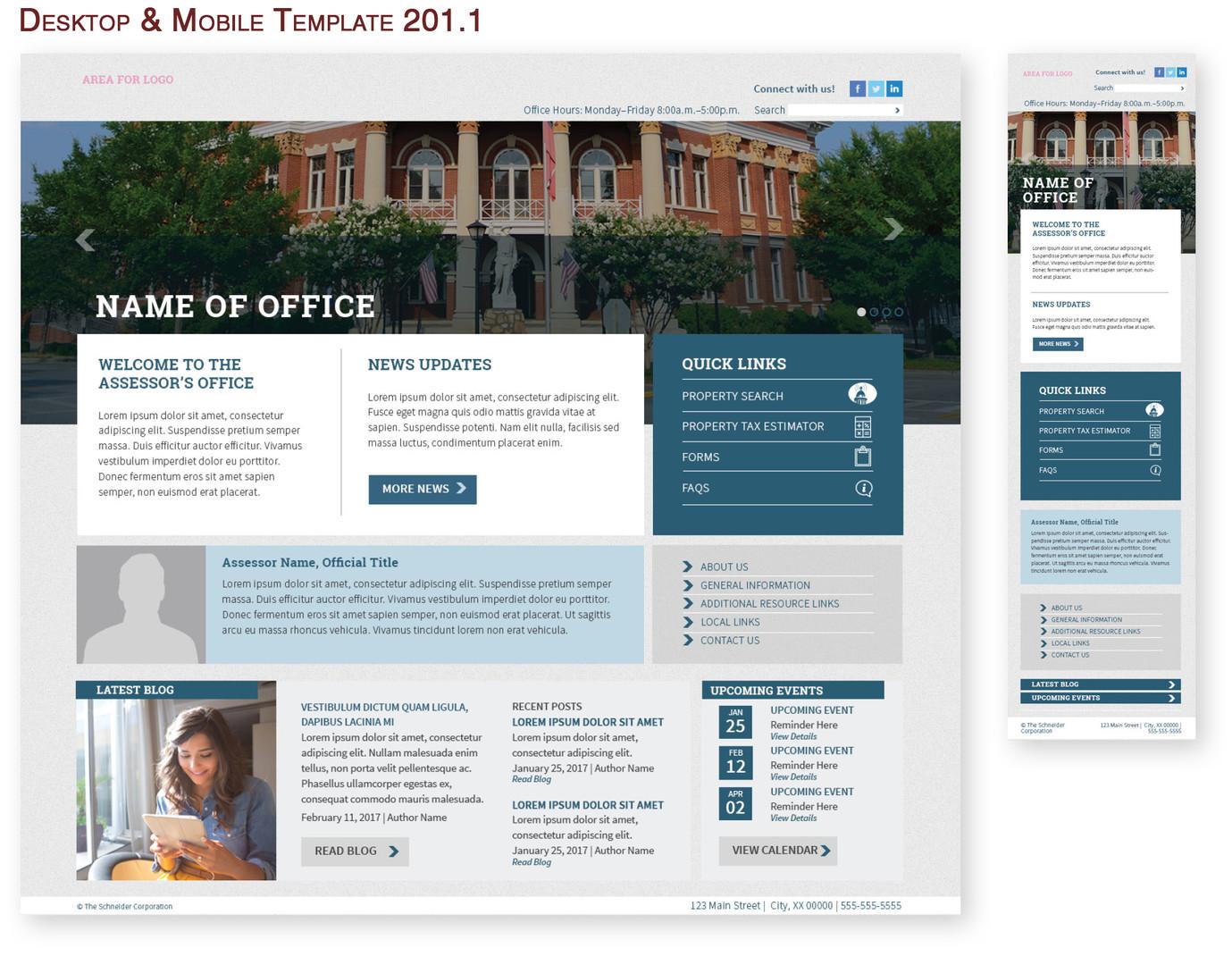 Desktop & Mobile Template 201.1