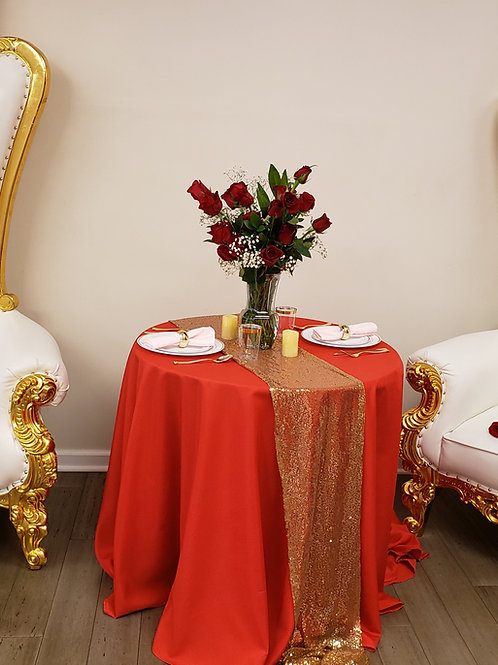 Polyester drop table cloth