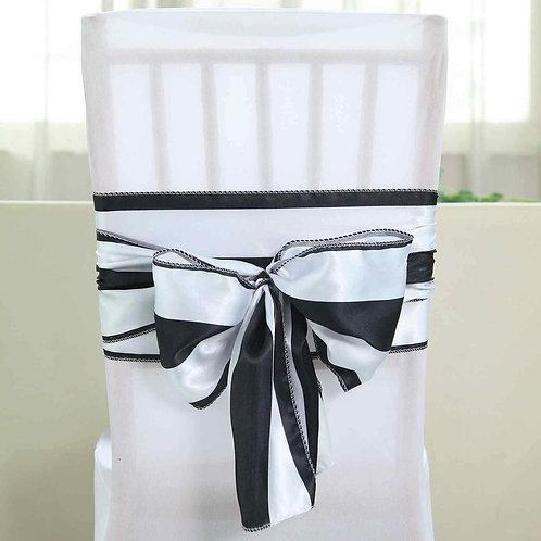 Blk/white chair sash