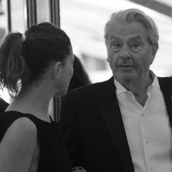 Anouchka et Alain Delon