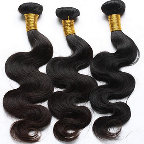 Peruvian Body Wave Hair 3 Bundles Human Hair Extensions Color 1B