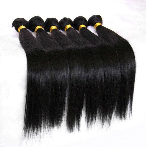 Brazilian Straight Hair 3 Bundles Human Hair Extensions Color 1B