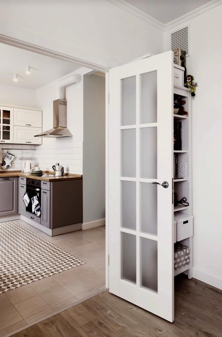 Door into a kitchen