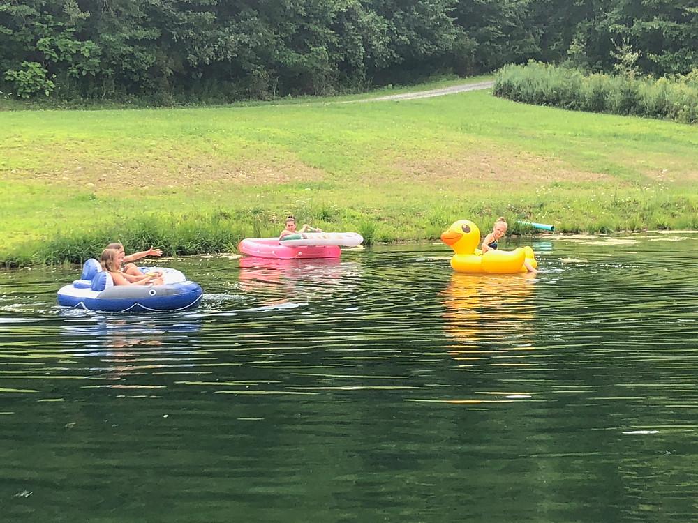 Fun on the pond
