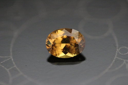 Saphir orange ovale - 0.89 carat - Madagascar