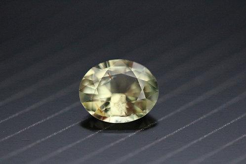 Saphir jaune ovale - 1,03 carats - Madagascar