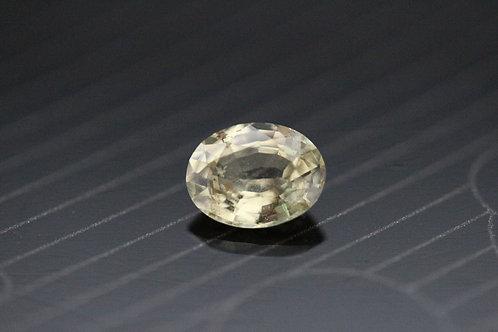 Saphir jaune clair ovale - 0,99 carat - Madagascar