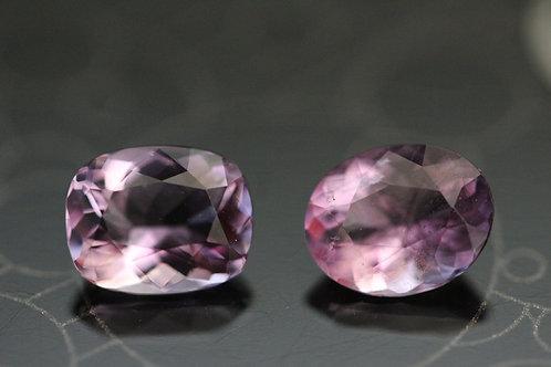 Lot de 2 Fluorites violettes - 2,88 carats - Vietnam [Cao Bang]