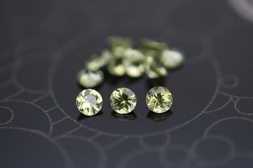 Péridot d'Arizona  - 2,5 mm - San Carlos Res., USA