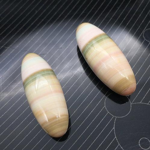 Jaspe Planète (Paire) - 45,72 carats - Uruguay