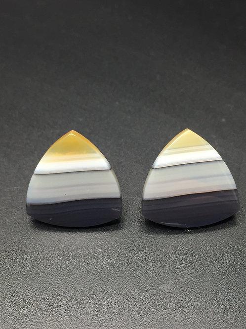 Agates (Paire) - Brésil - 23.80 carats